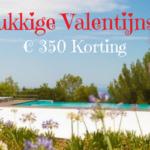 8 dagen lang € 350 Valentijns-korting op uw droomvilla in Spanje!